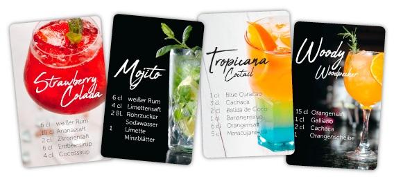 Magnethaftkarten Kühlschrankmagnete mit Cocktail Rezepten