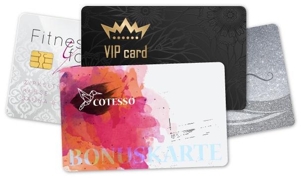 Plastikkarten drucken als Kundenkarten, Gutscheinkarte oder Mitgliedskarte