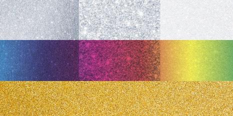 Metallic Farben unterschiedlich überdruckt, Gold, Silber, Pearl