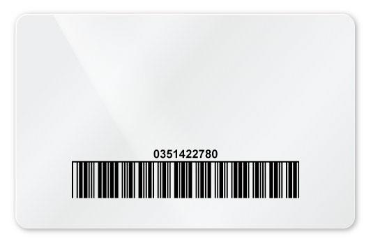Blankokarte mit aufgedrucktem Barcode