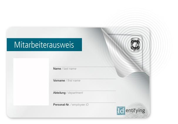 Mitarbeiterausweis mit RFID-Chip