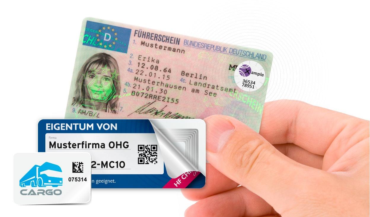 RFID Labels in unterschiedlichen Formaten
