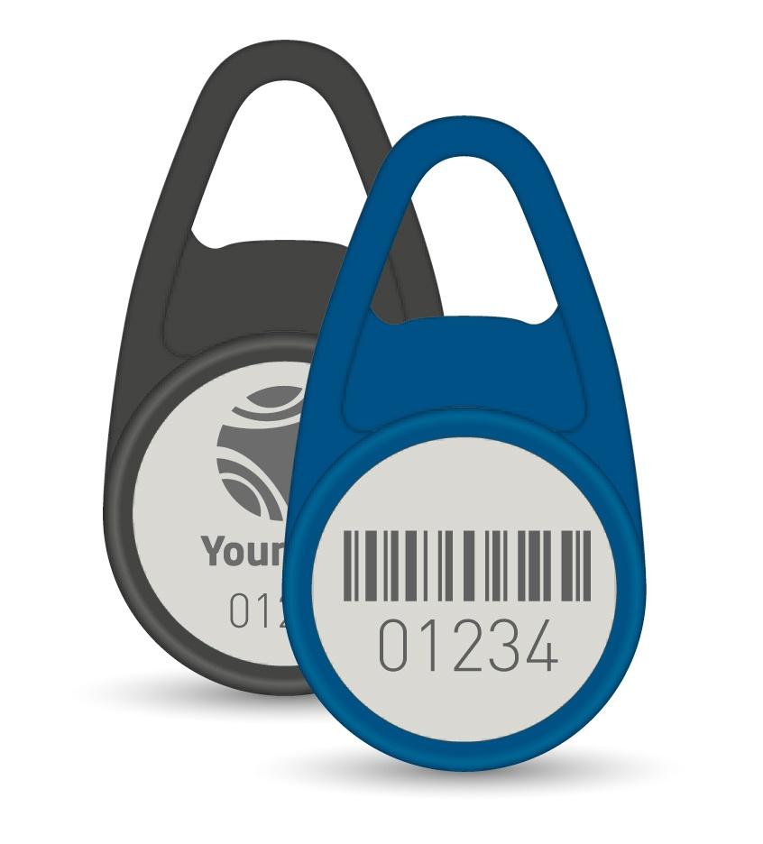 Schlüsselanhänger Tropfen Barcode Nummer