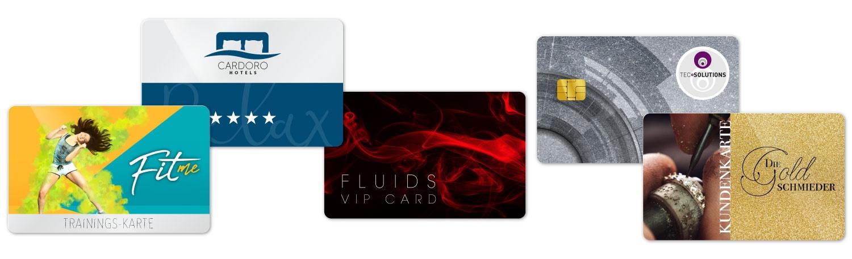 Karten mit unterschiedlichen Drucklayouts