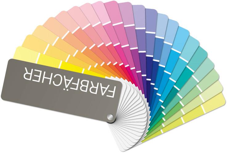 klassicher Farbfächer als Grafik