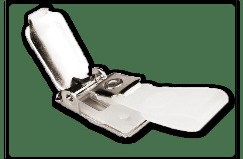 Clip mit Plastiklasche