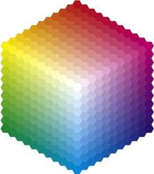 Farbspektrum als Würfel dargestellt