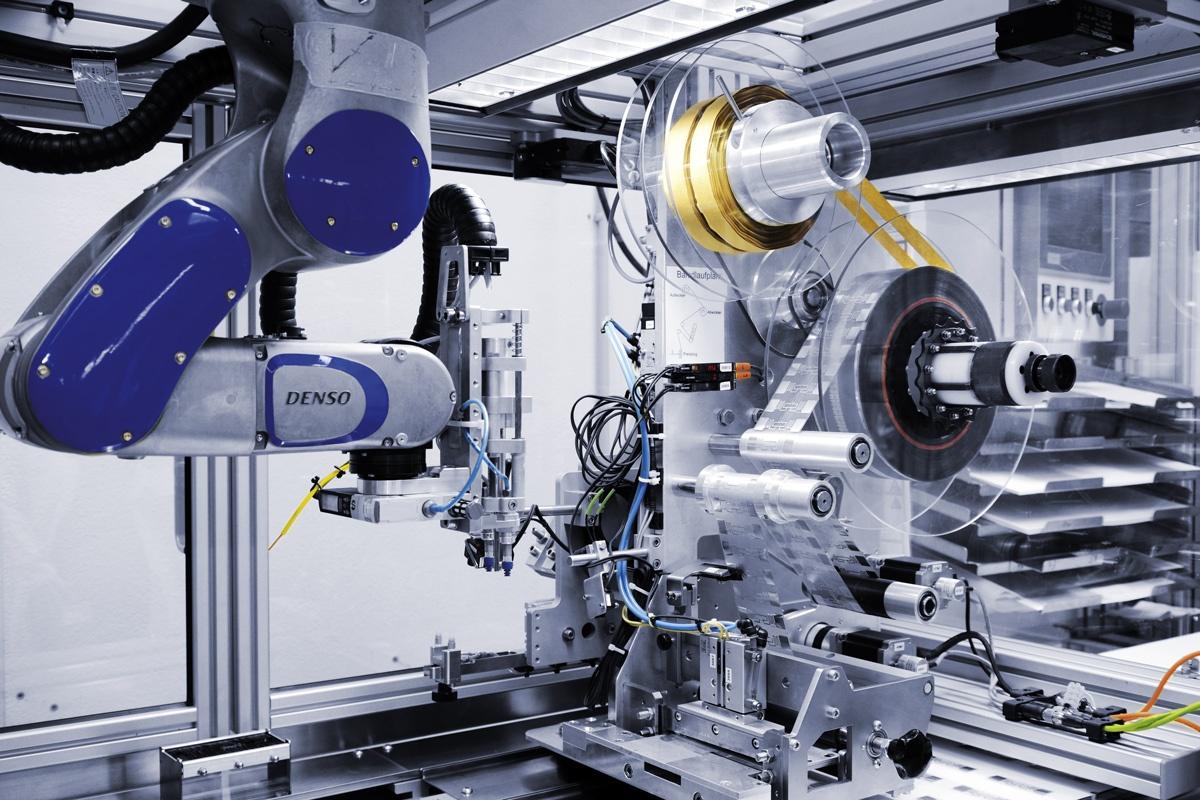 Roboterarm des Inletcollectors