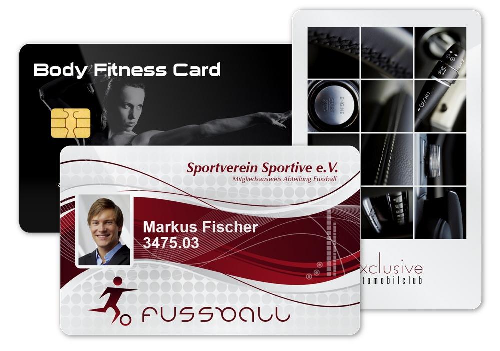 Fitnesskarte, Ausweis des Sportvereins und Automobilclubkarte