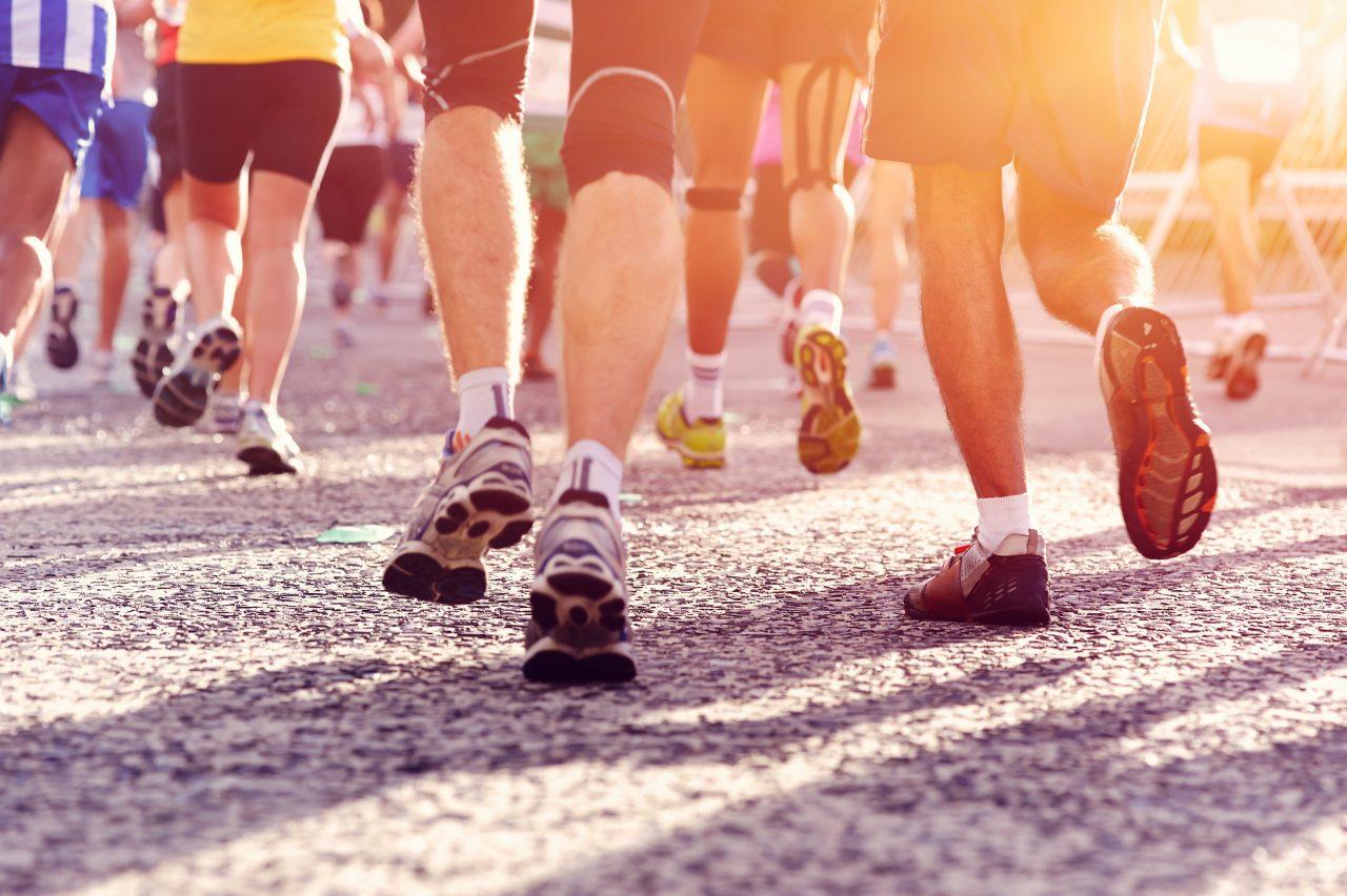 Laufende Menschen beim Marathon