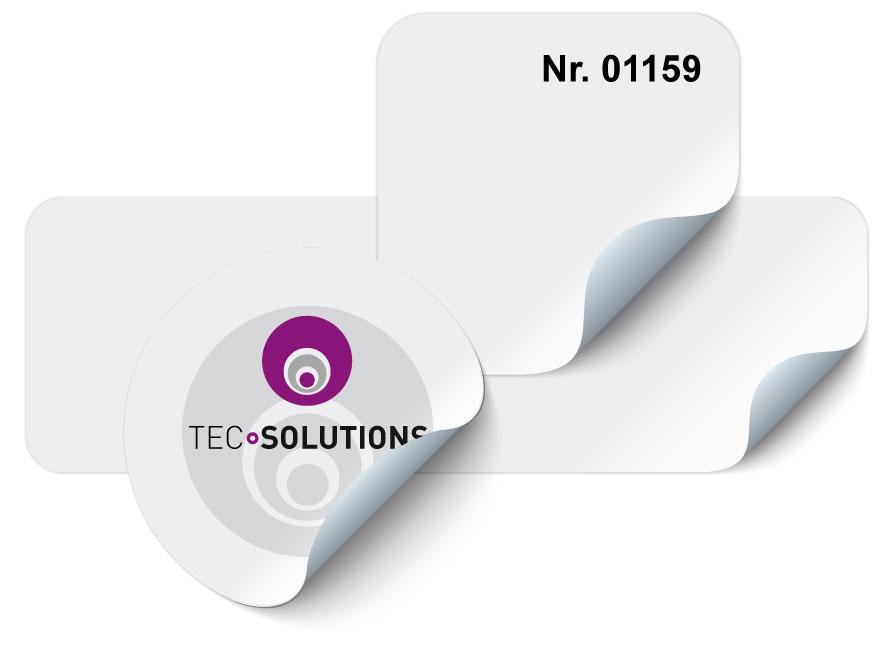 RFID Labels in unterschieldichen Formaten, rund, recheckig, quadratisch