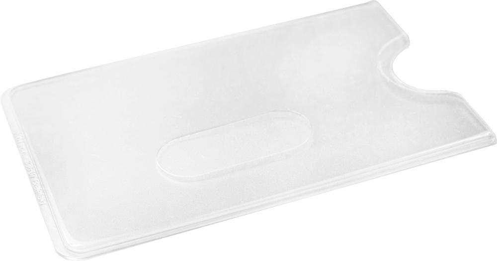 Kartenhülle Hart-PVC mit Daumenschub