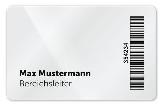 Plastikkarte mit DOD Personalisierung