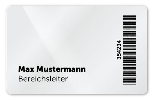 Plastikkarte mit Inkjet Personalisierung