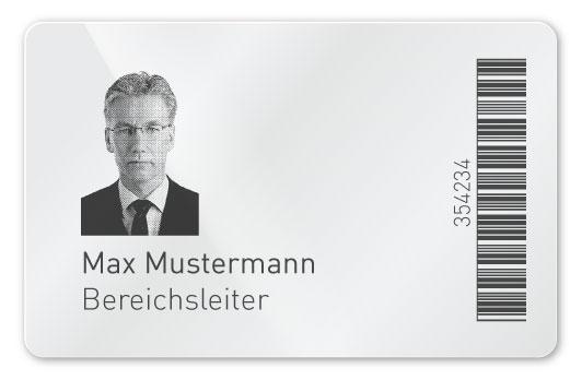 Plastikkarte mit Laser-Personalisierung
