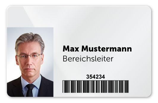 Plastikkarte mit Retransferdruck Personalisierung
