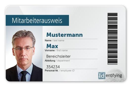 Plastikkarte mit Personalisierung unter Laminat Subsurface