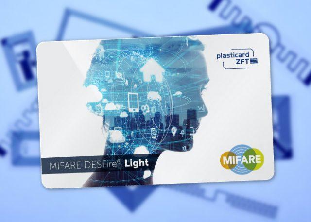 Plastikkarte mit MIFARE DESFire Light