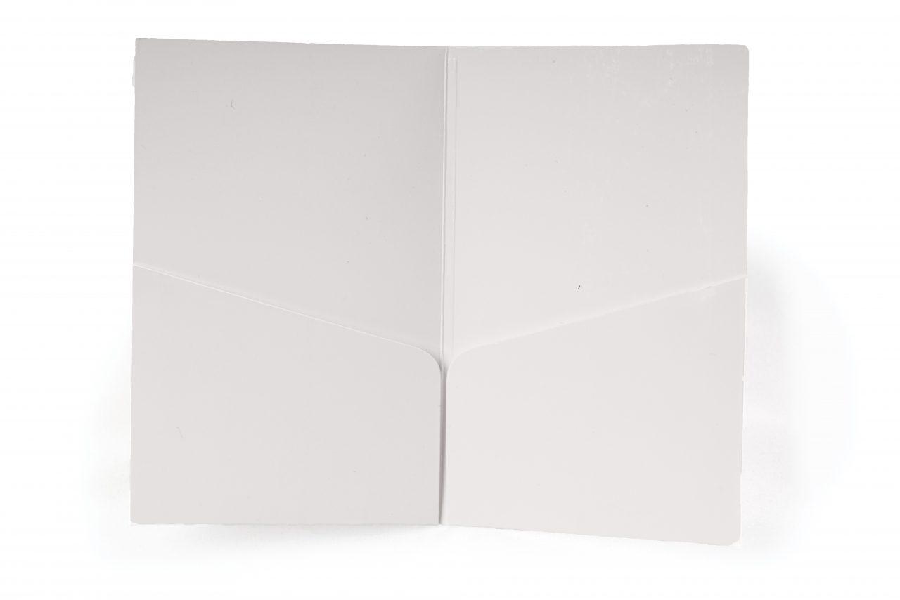 Karton-Kartenhülle mit zwei Einschublaschen