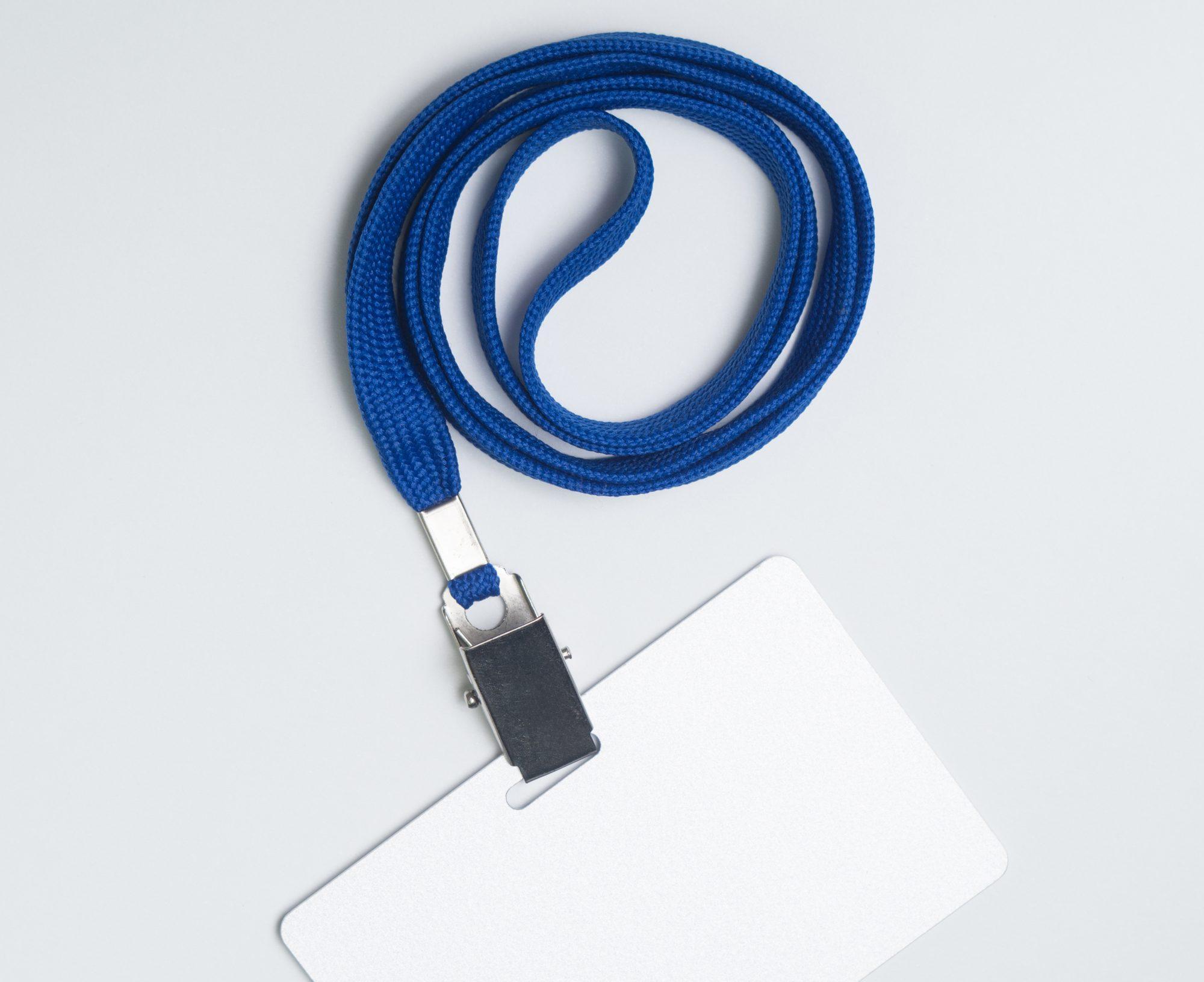 Lanyard Schlüsselband mit Weißkarte