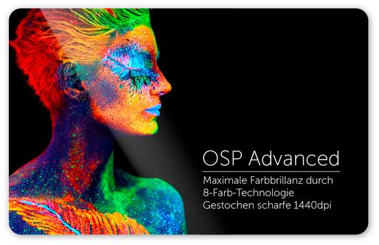 Brillante Druckfarben mit OSP-Advanced