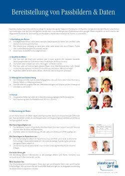 Vorschau Infoblatt Bereitstellung von Passbildern
